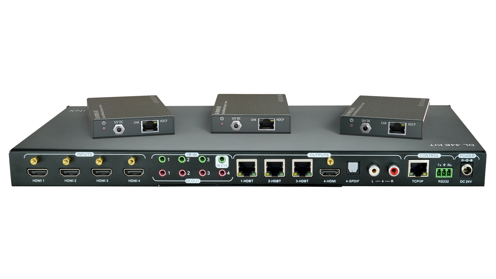 Dl 44e Kit 4x4 4k Hdbt Matrix Switch Kitted With 3