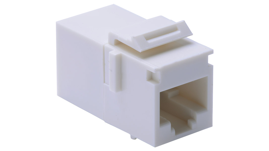 Cp wh keystone style rj in line coupler for category