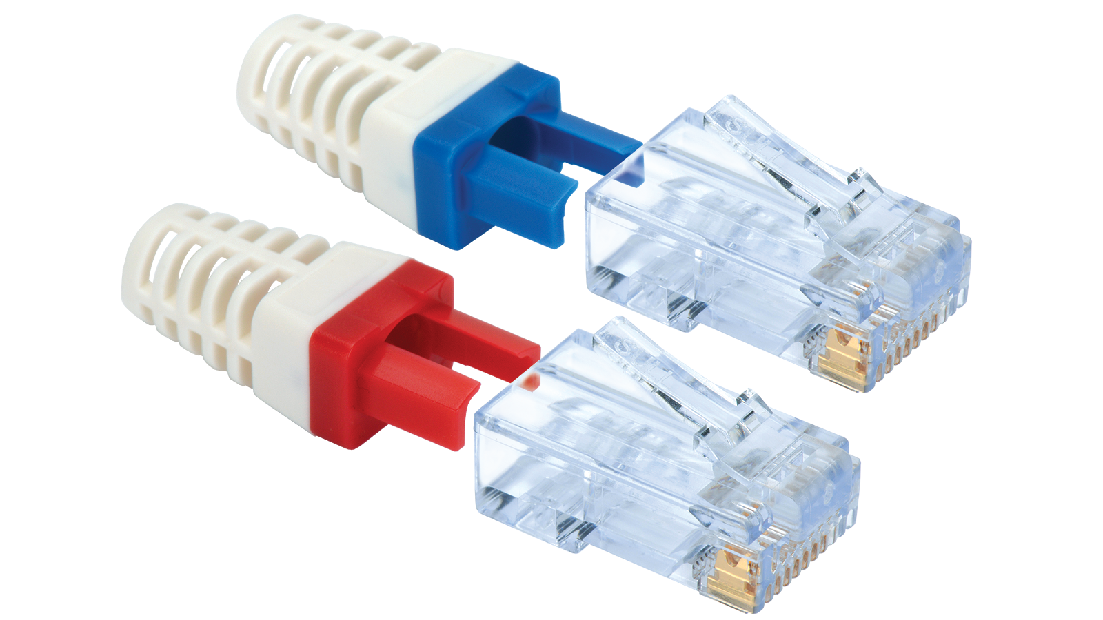 100 011lw category 6 ez rj45 plugs in a 30 pack with strain relief rh libertycable com RJ45 Wall Jack Wiring Diagram RJ45 Jack Wiring Diagram
