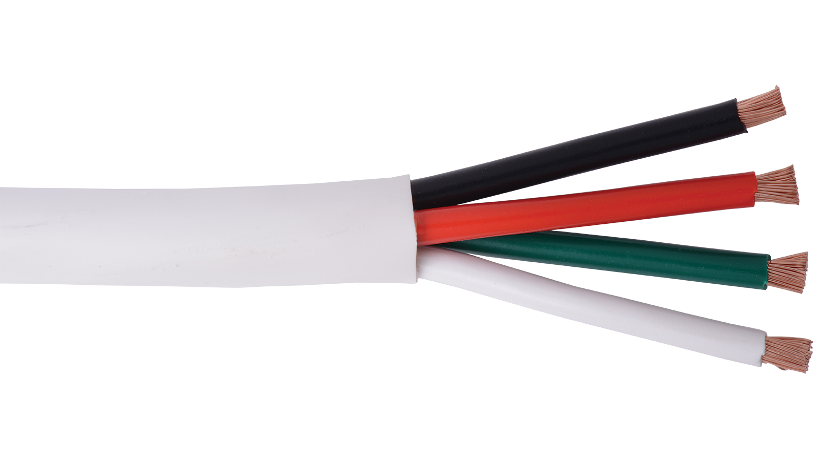 14-4C-KO+-WHT - KnockOut 14 AWG 4 conductor speaker cable