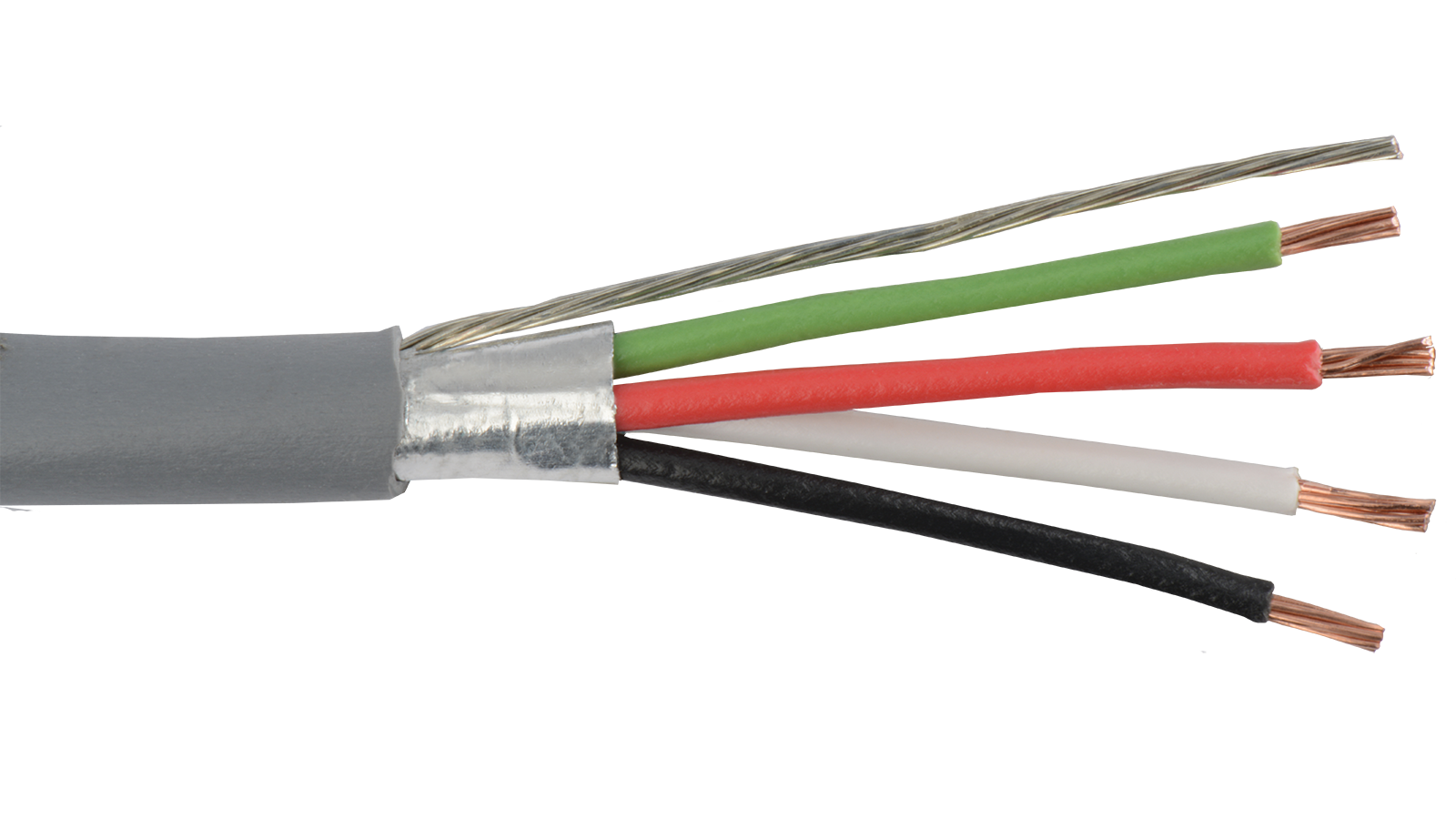 18-4C-SH-GRY - Commercial grade general purpose 18 AWG 4 conductor ...