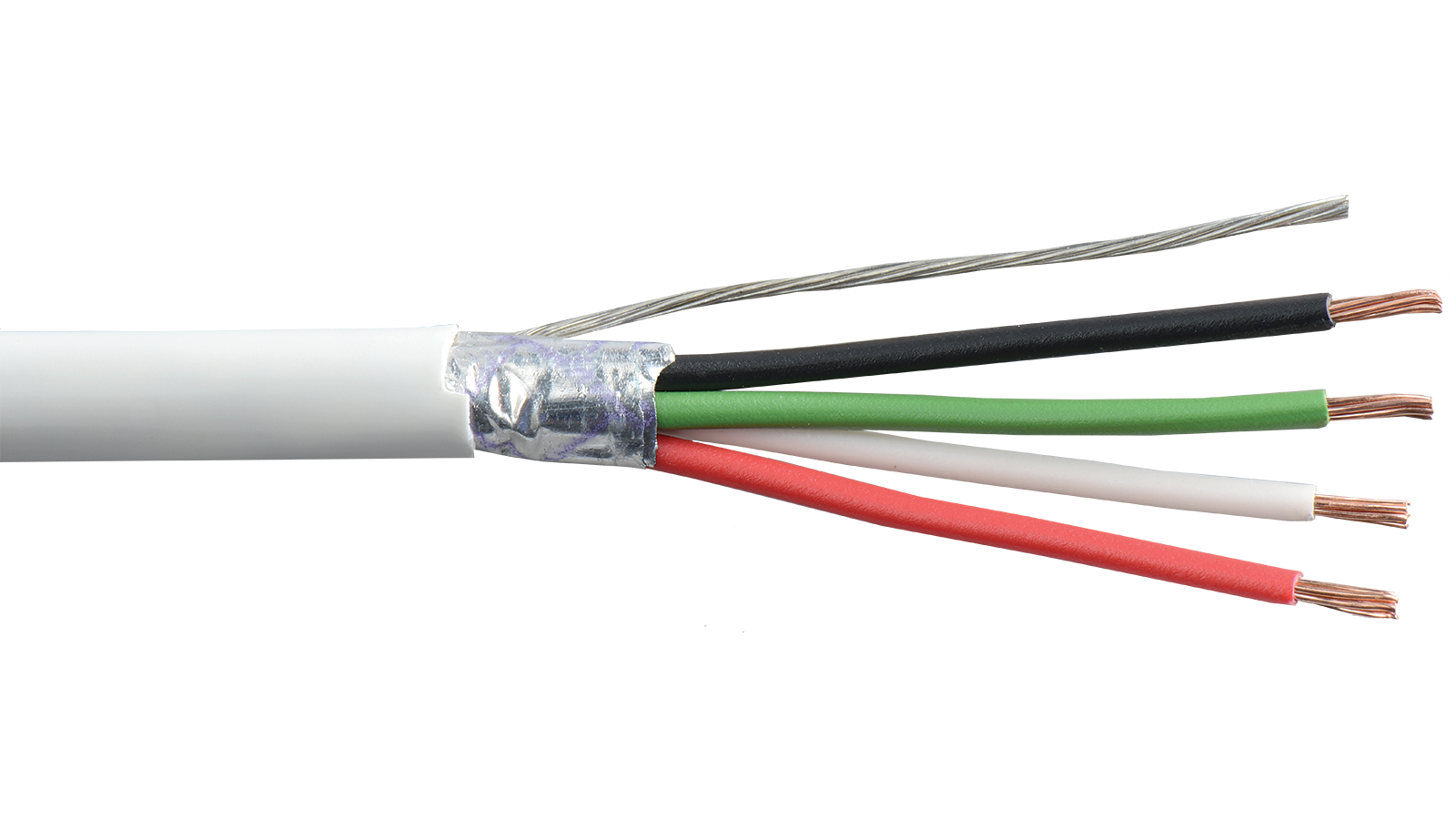 22 4c psh wht commercial grade general purpose 22 awg 4 commercial grade general purpose 22 awg 4 conductor plenum shielded cable