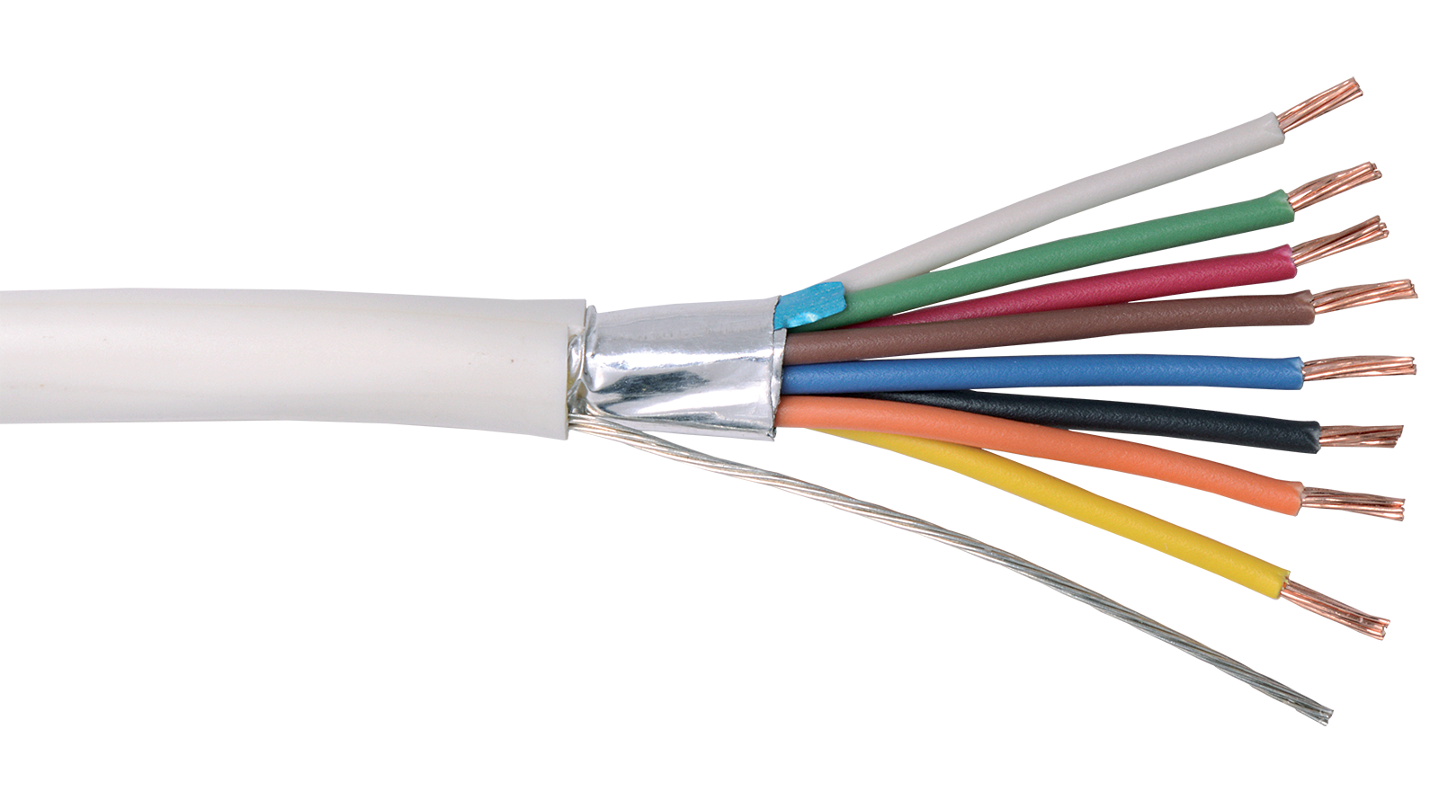 22-8C-PSH-BLU - Commercial grade general purpose 22 AWG 8 conductor ...