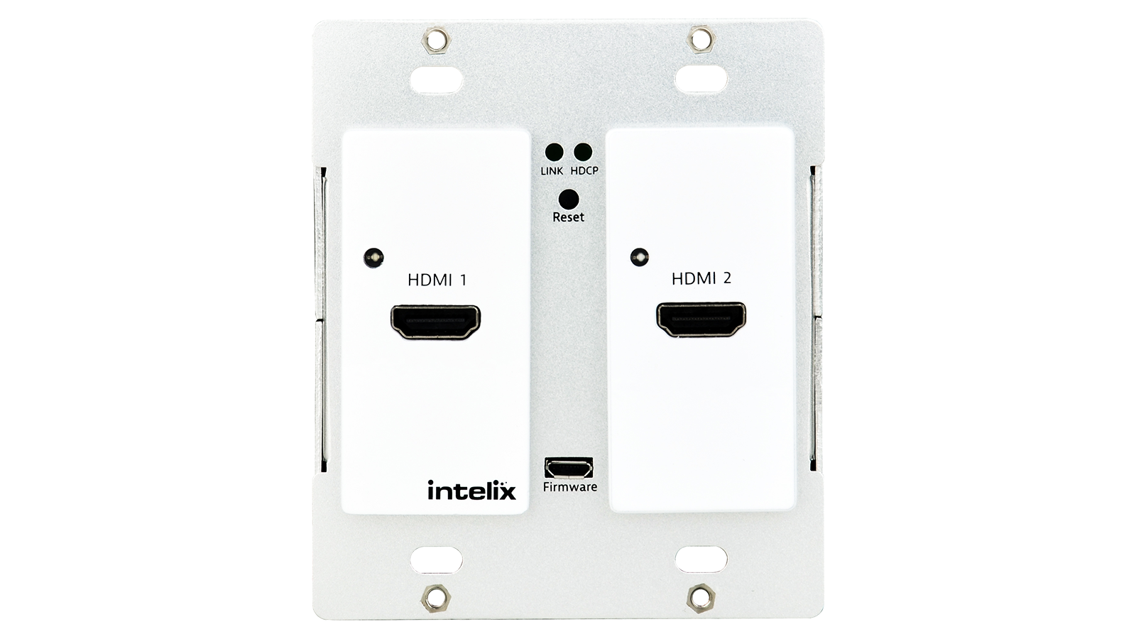 AS-2H-WP-W - Dual HDMI Auto-Switching Wallplate w/ HDBaseT Output