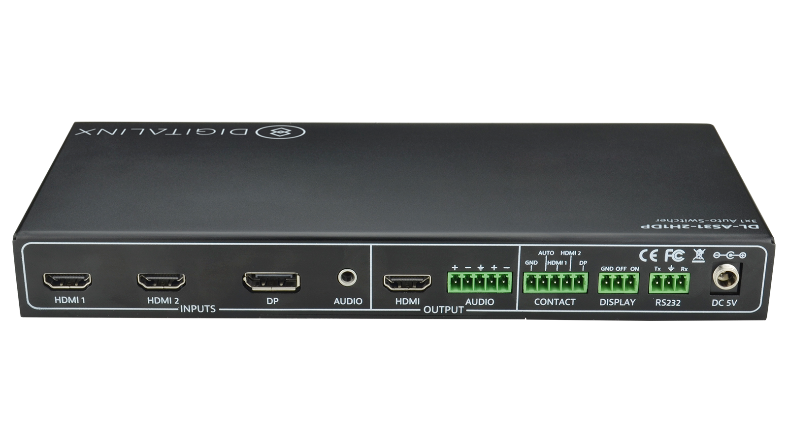 Dl As31 2h1dp 3x1 Auto Switcher With 2 Hdmi And 1 Displayport Input Id Cooling Tg 31