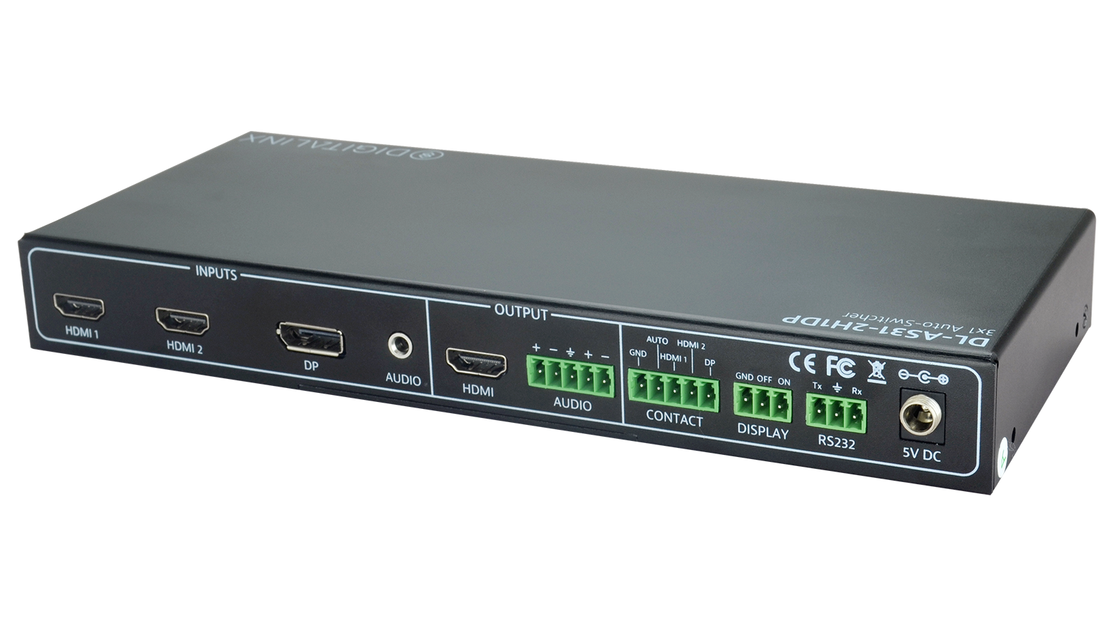 Dl As31 2h1dp 3x1 Auto Switcher With 2 Hdmi And 1 Displayport Input Port Patch Panel Also Led Light Simple Circuit Diagram