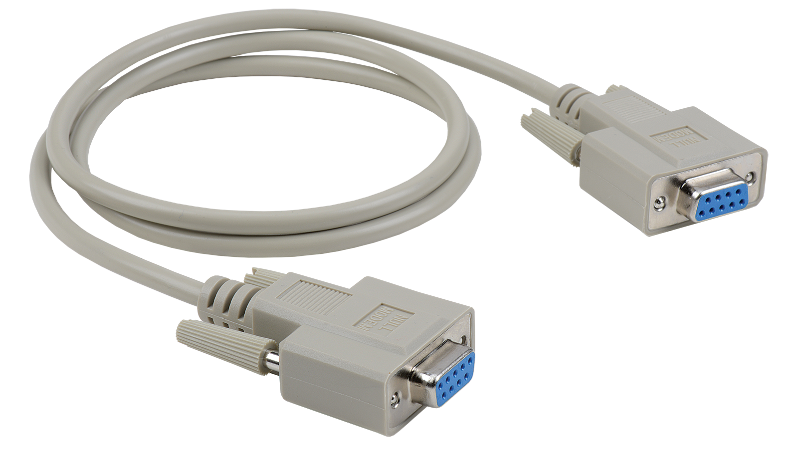 Economy Molded D-SUB DB9 female to female null modem cable ...