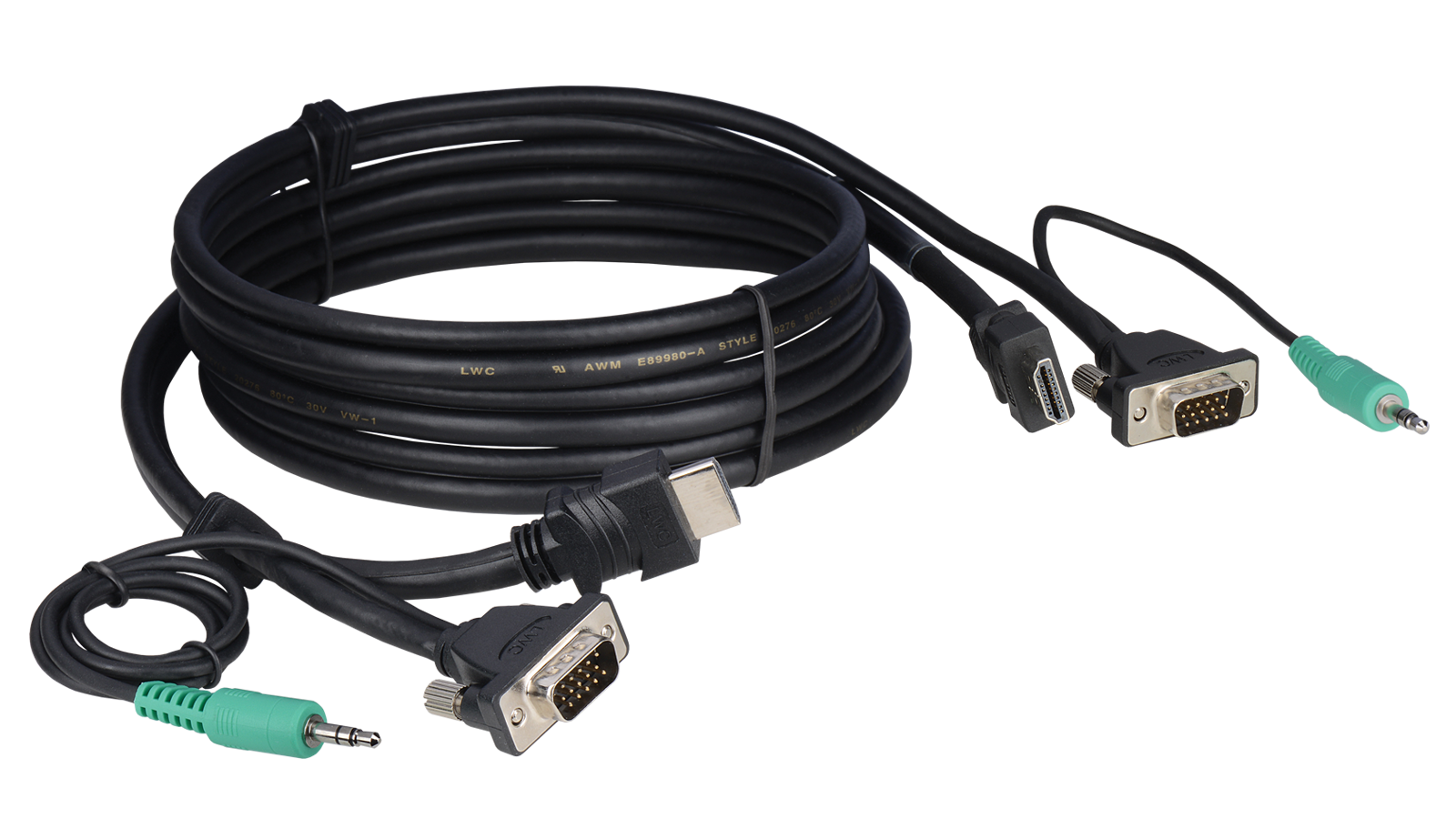 E-HDVAM-M-06 - Tabletop HDMI, VGA and Audio hybrid cables