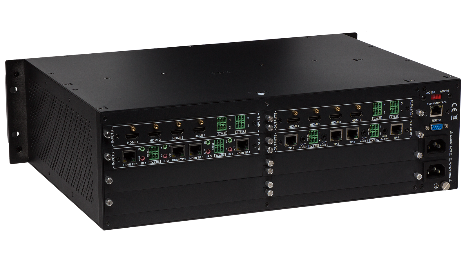 Flx 1616 Flexible Card Based Matrix Switcher 16 Input X Output Cat5 Av Switches Audio Video Switch Solutions