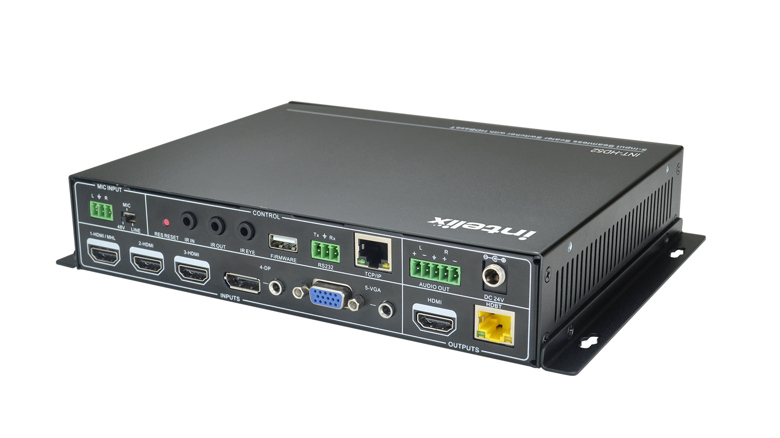 Int Hd52 5x1 Auto Switching Presentation Switcher With Hdbaset Output 25w Audio Amplifier Circuit Using Tda2613