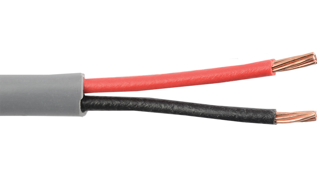 18-2C-GRY - Commercial grade general purpose 18 AWG 2 conductor cable