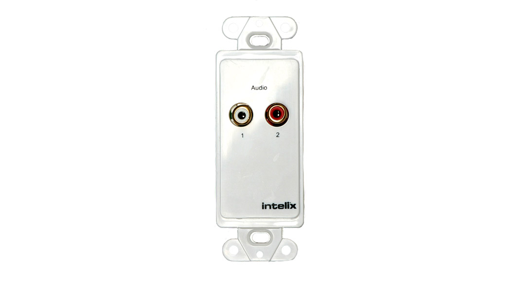 Analog Stereo Audio Wall Plate Balun - 110 Punch Down Block - UK Wall Plate