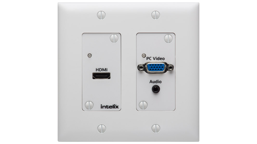 ASW-WP-BSTK - HDMI/VGA Auto-Switching Wallplate with HDBaseT Output