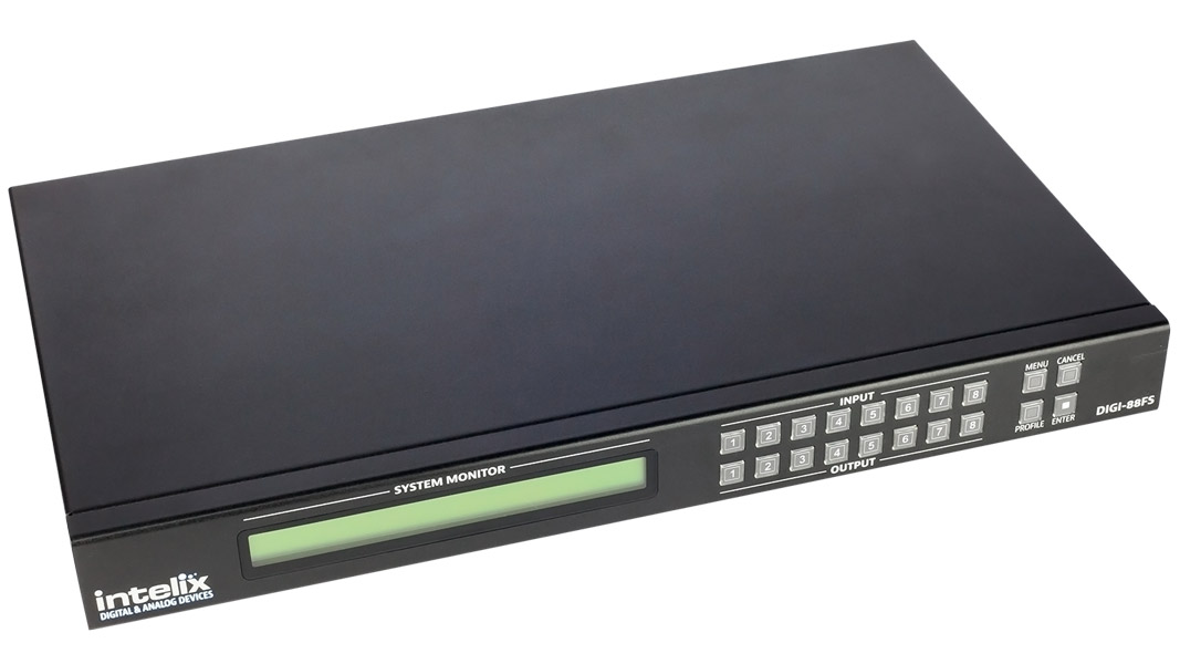 DIGI-88FS - 8x8 HDMI Matrix with Seamless/Fast Switching & Scaling