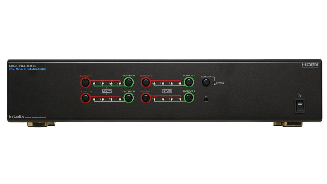 DIGI-HD-4X8 - HDMI Matrix Switcher - 4 Input x 8 Output - US power supply