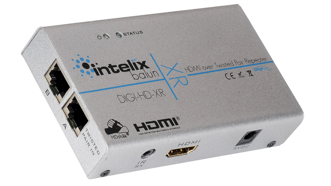 DIGI-HD-XR-EU - HDMI & IR over Twisted-Pair Extender & Repeater - EU power supply