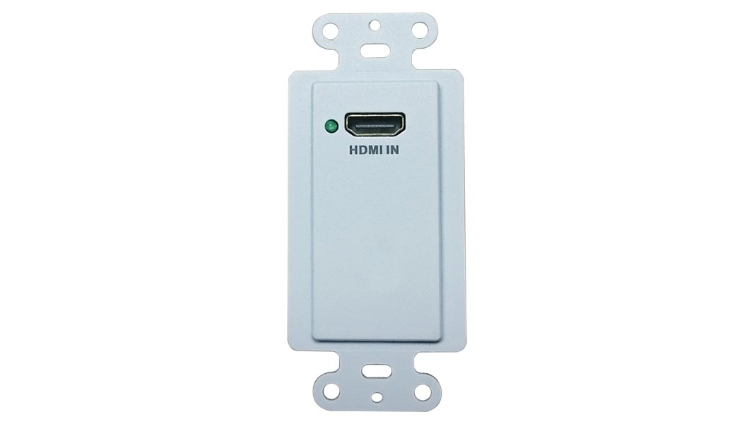 DIGI-HD60-WP-S - HDMI single gang wallplate HDBaseT transmitter with PoH