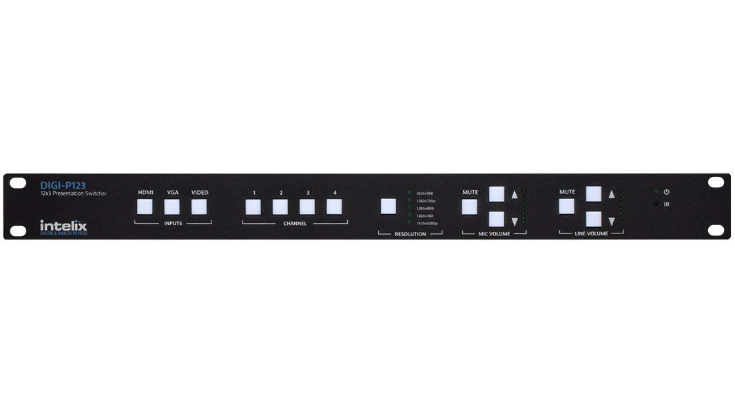 DIGI-P123 - Presentation Switcher - 12 Input x 3 Output
