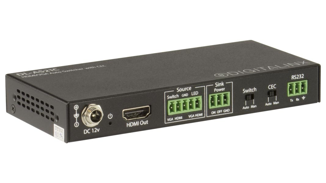 DL-AS21C - HDMI + VGA Auto-Switcher with CEC Control