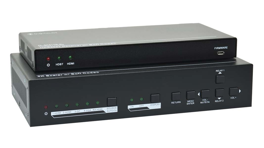 DL-SC51TR - 5x1 2 Piece HDMI and USB 2.0 Switcher / Extender for Soft Codec Systems