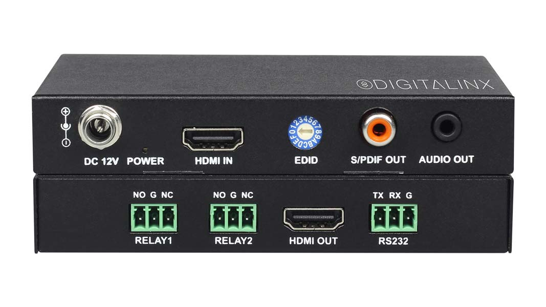 DL-UHDILC - In-Line 18G HDMI Auto Sensing Room Controller with audio de-embedding