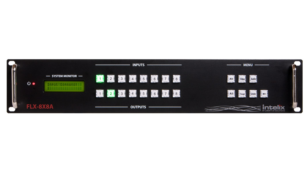 FLX-8X8A-BSTK - Flexible Card-Based Matrix Switcher - 8 Input x 8 Output