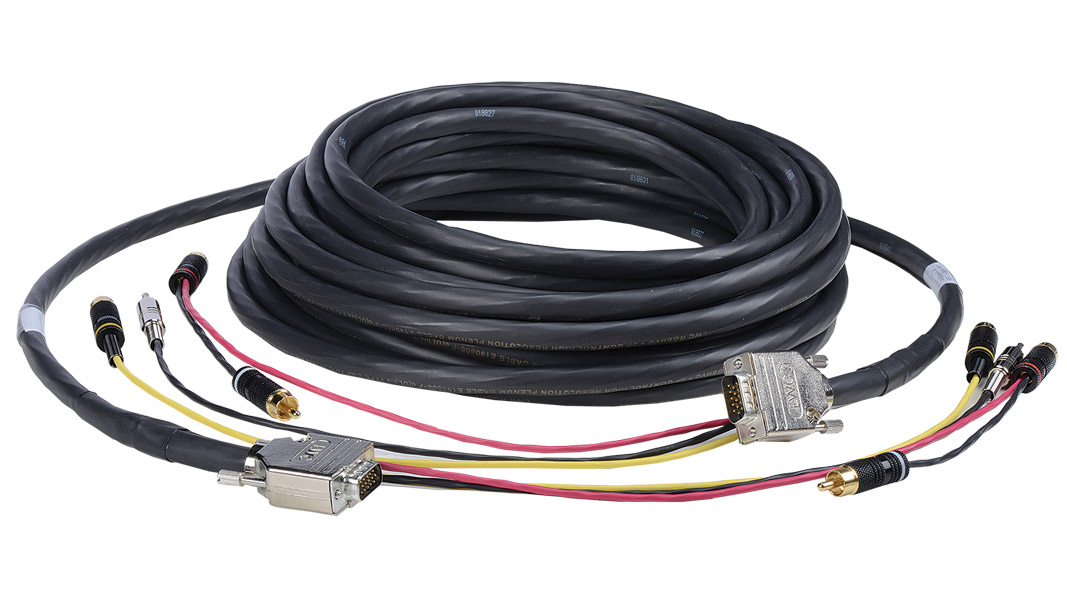 G-2V2A-B1-45 - Liberty Manufactured VGA+3.5TRS and Triplex RCA Audio/Video Plenum cable