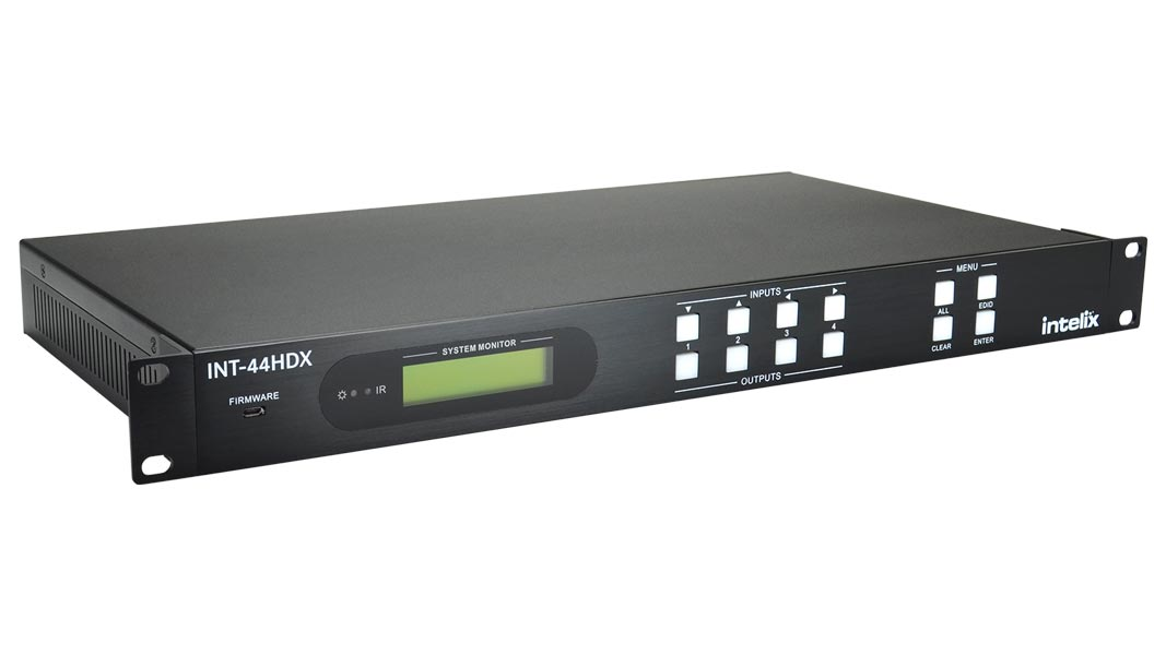 INT-44HDX - 4x4 HDMI / HDBaseT Matrix Switcher
