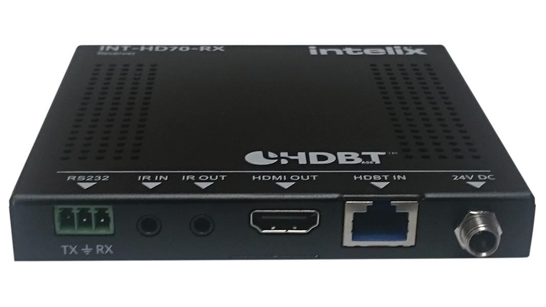 INT-HD70-RX - HDMI Slim 70M, POH, IR and Control HDBaseT Extender - Receiver