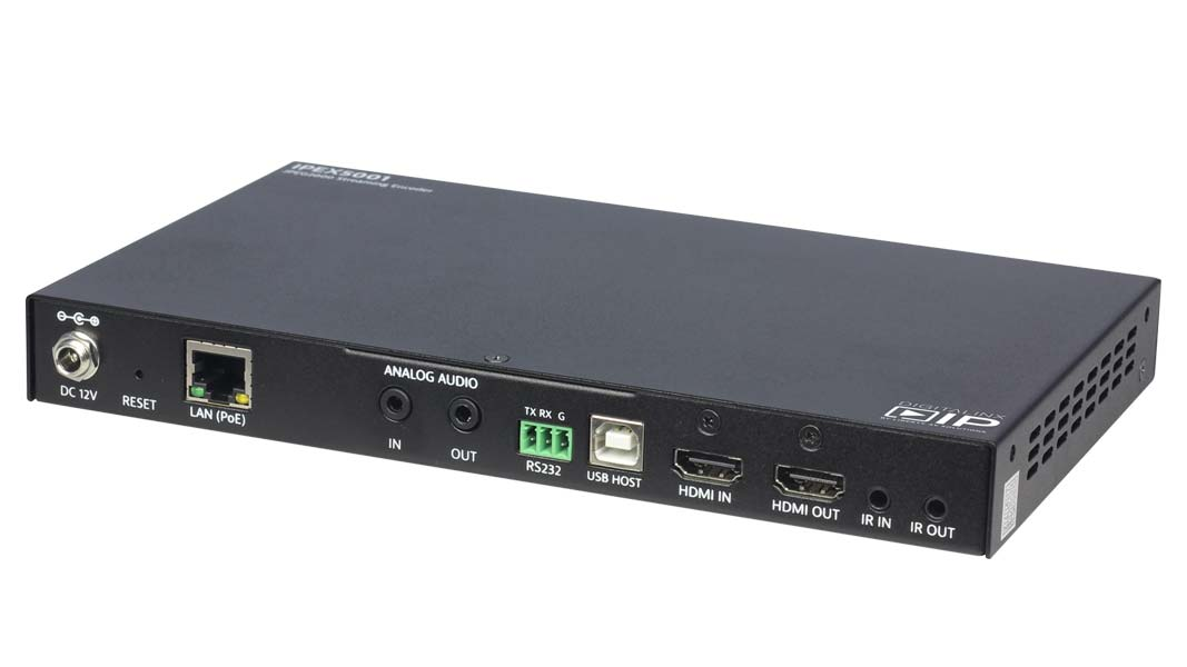 IPEX5001 - HDMI Over IP Encoder - Scalable 4K Solution over 1Gb Network w/ full Matrix & Video wall Capability