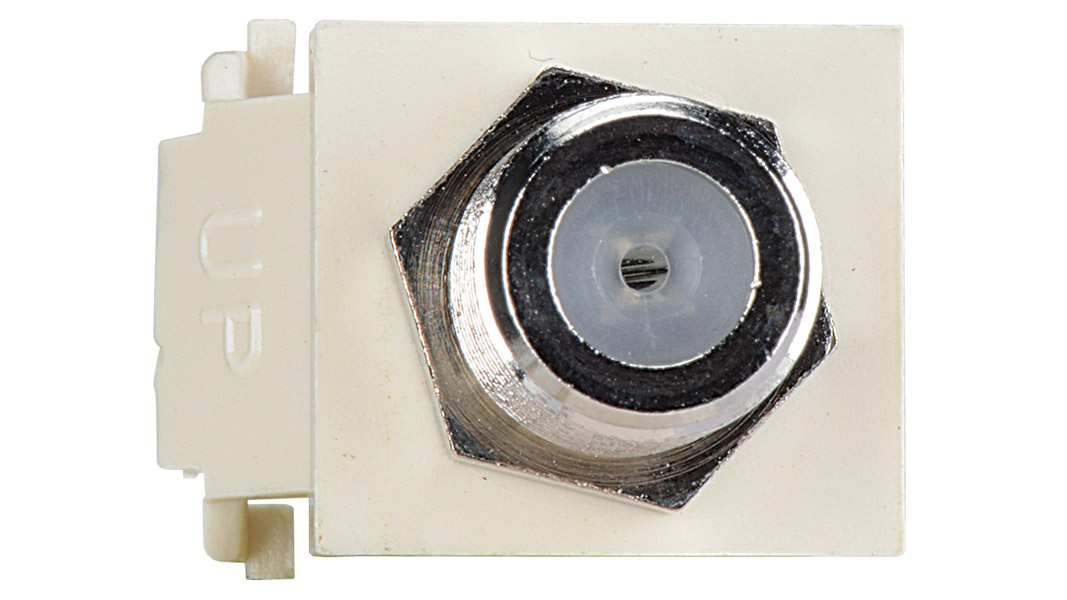 ISK-F-WH - Keystone compatible  F connector pass through inserts