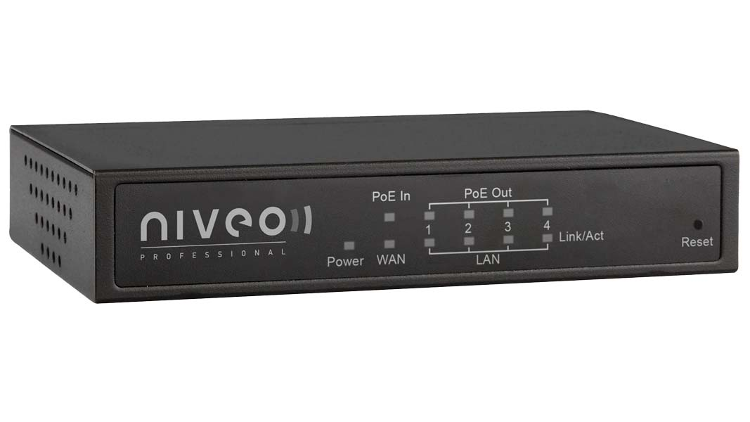 NR10 - Small Form factor Gigabit Router, 1Gb Wan, Integrated 4 port GB switch with PoE+