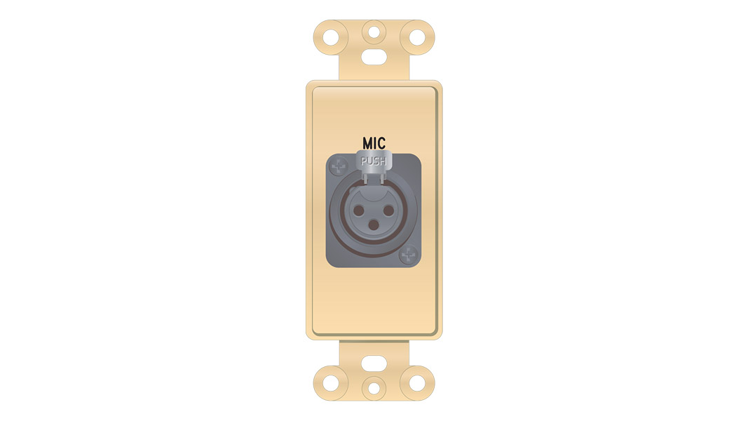 Decorator format XLR 3-Pin Female solder back plate insert