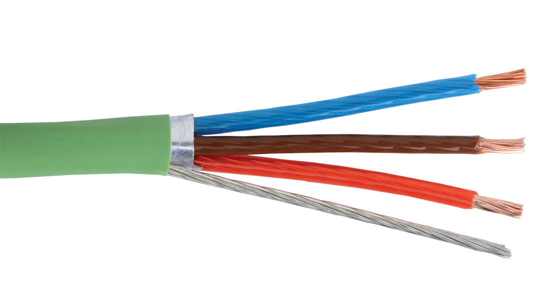 TEKTONE-PLN-POWER-RA - Nurse Call power 18 AWG 3 conductor shielded plenum cable