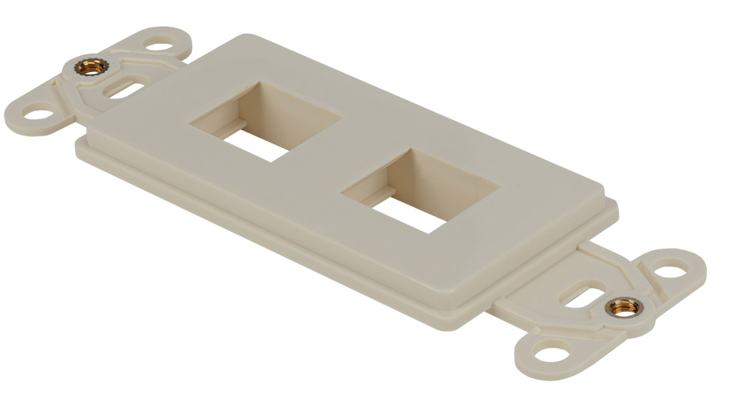 WJ-DEC-WH - Keystone Decorator Style 2-port faceplate insert