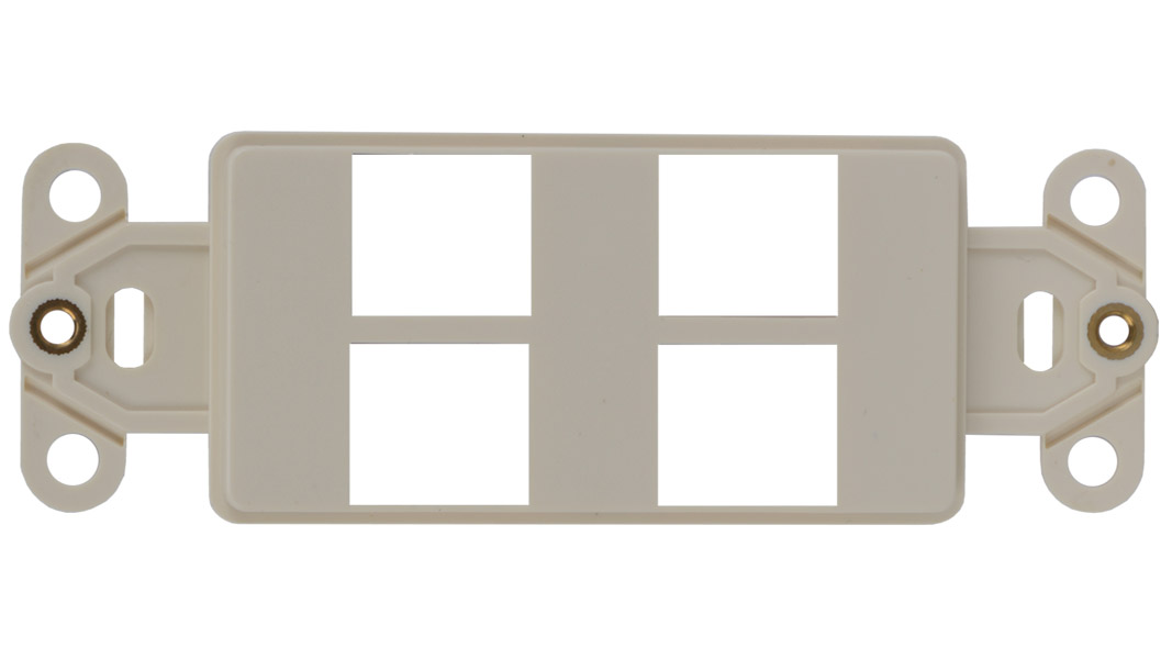 WJ-DEC4-WH - Keystone Decorator Style 4-port faceplate insert