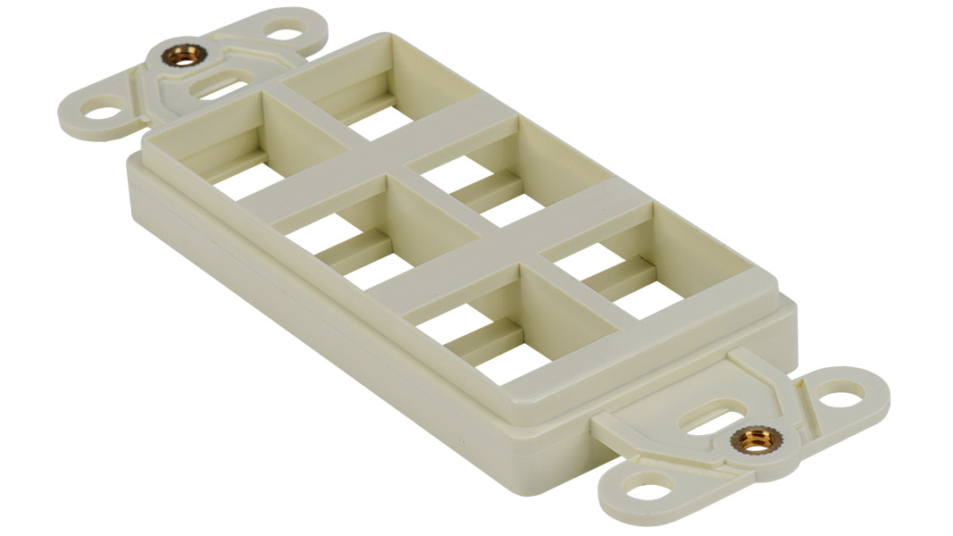 WJ-DEC6-WH - Keystone Decorator Style 6-port faceplate insert