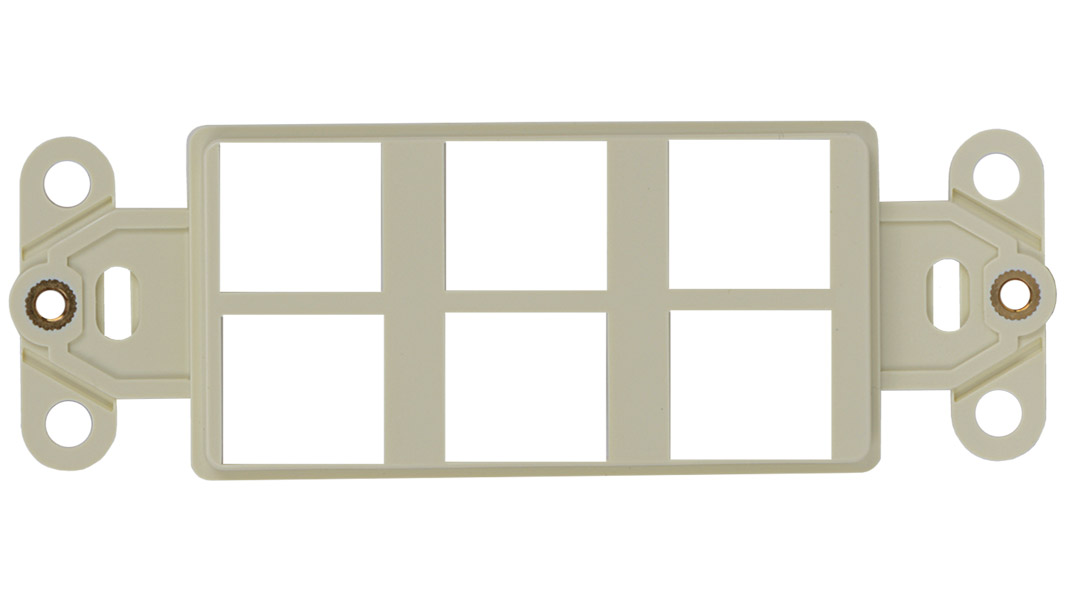 WJ-DEC6-AL - Keystone Decorator Style 6-port faceplate insert