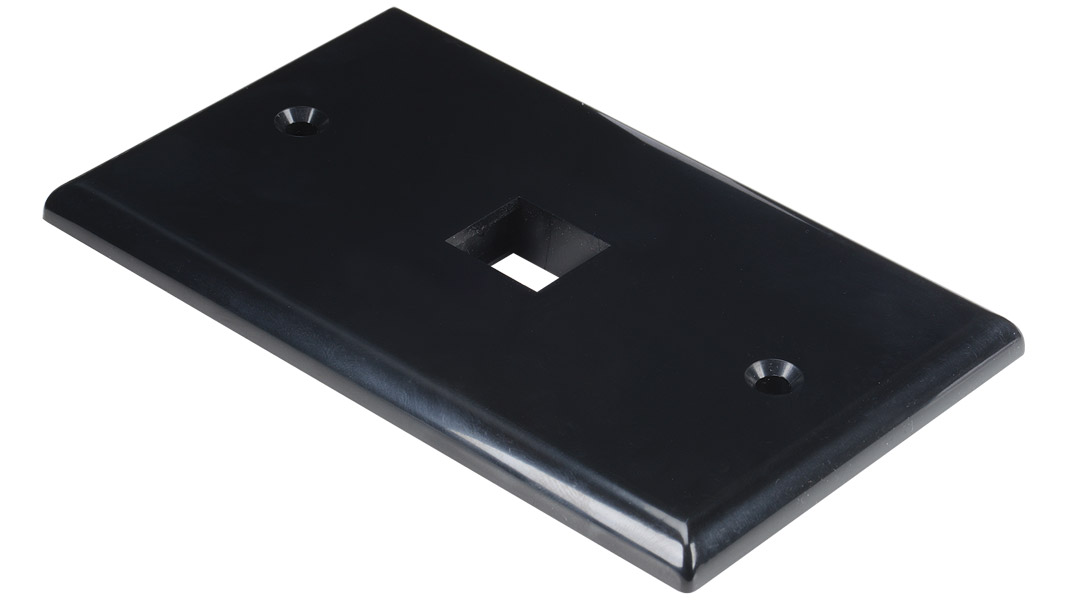 WP-N1-AL - Keystone single gang 1-port smooth faceplate