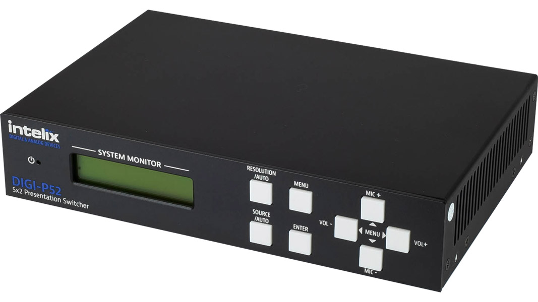 DIGI-P52 - Presentation Switcher - 5 Input x 2 Output