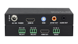 In-Line 18G HDMI Auto Sensing Room Controller with audio de-embedding - In-Line 18G HDMI Auto Sensing Room Controller with audio de-embedding