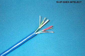 18-2P-SHEX-INTELECT - HALOGEN FREE 18/2P INDSH BLUE