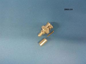 2065-2-9 - BNC PLUG, RG59 PVC CRIMP 3-PC