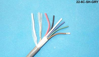6C-SH-GRY - Commercial grade general purpose 22 AWG 6 conductor ...
