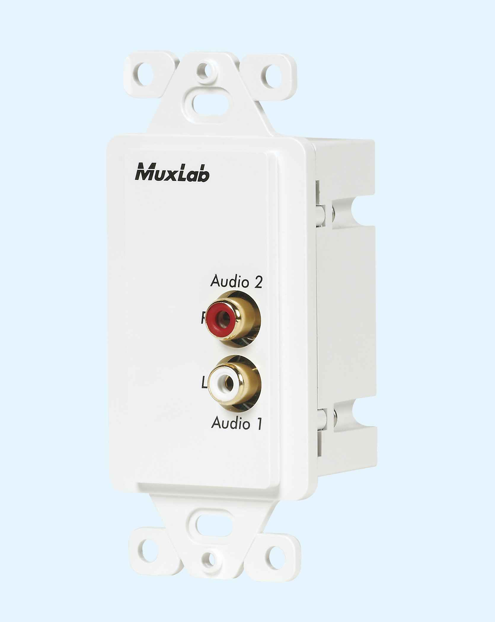 500028 Wp Us Muxlabs Stereo Audio Balun Wall Plate With L R Rca Details About 1 X 35mm Female To Wiring Block Keystone Jack