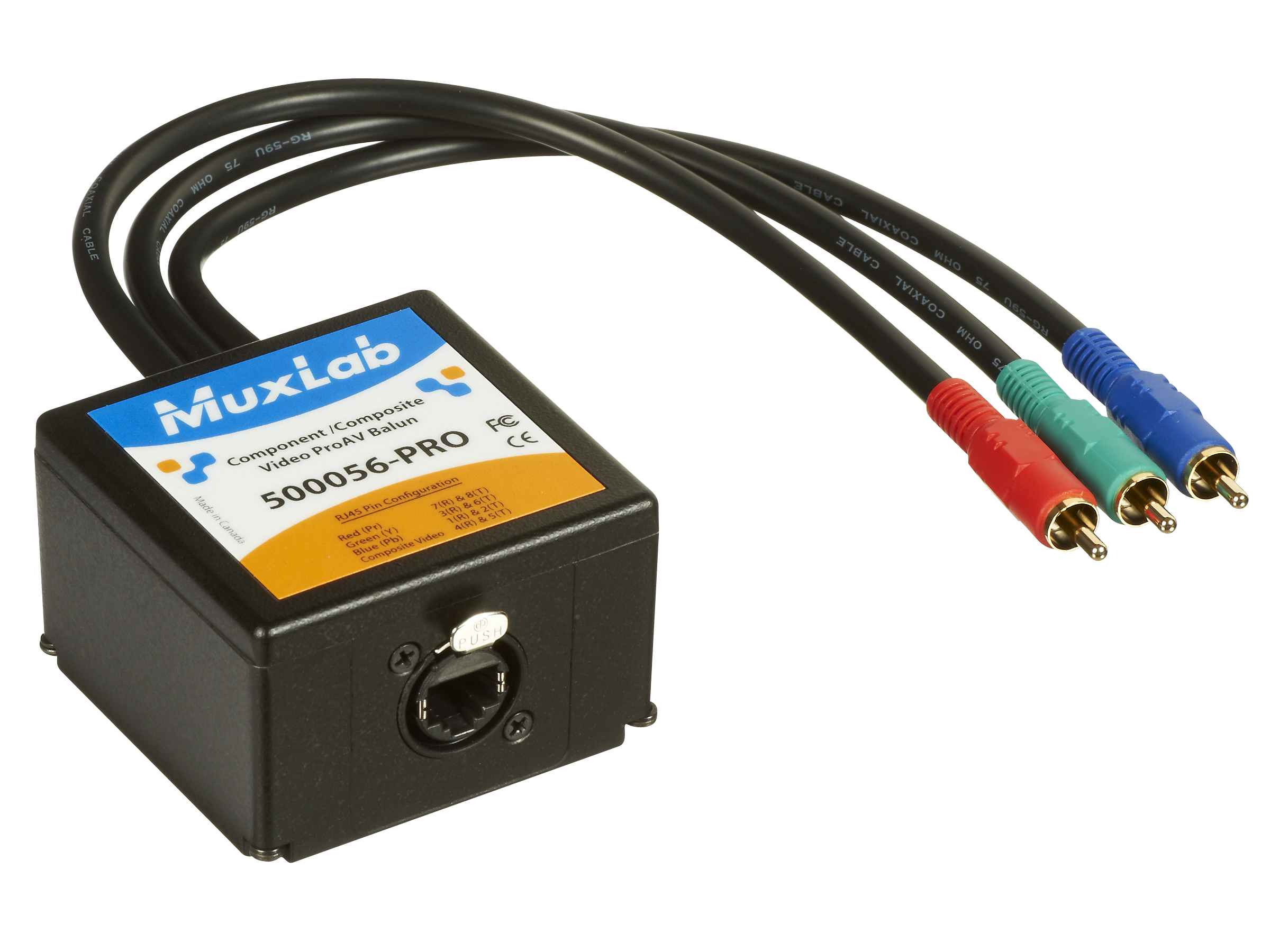 500056 Pro Muxlabs Component Video Or Composite Balun Free Circuit Diagrams 4u Ac120v Led Series