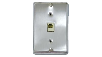630E-IV - Phone hanging faceplates with RJ jack and mounting studs