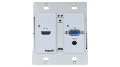 HDMI/VGA Auto-Switching Wallplate with VGA Scaling & HDBaseT Output - HDMI/VGA Auto-Switching Wallplate with VGA Scaling & HDBaseT Output
