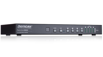DL-HDM44 - 4 Input, 4 Output HDMI Matrix Switcher with 4K Support