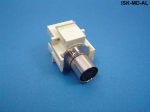 ISKF-MD-AL - Keystone compatible S-Video mini-DIN 4 pass through inserts non-high density size